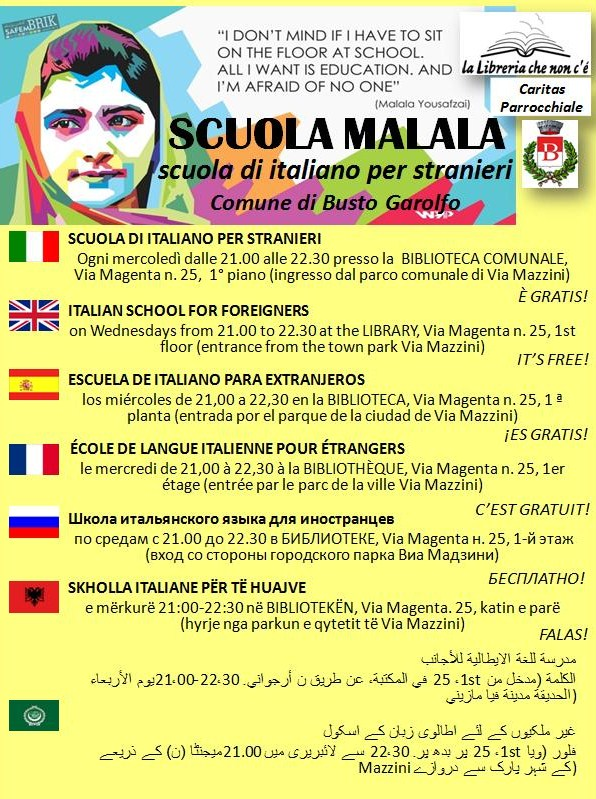nuovo volantino scuola Malala